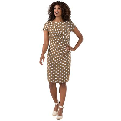Walkabout Knit Draped Dot Dress