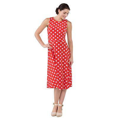 Women's Sleeveless Dotted Dress