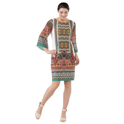 Scarf-Print Dress