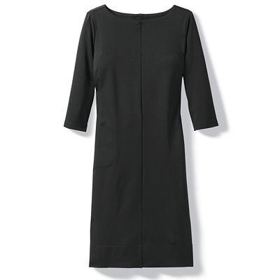 Ponte Knit 3/4-Sleeve Dress