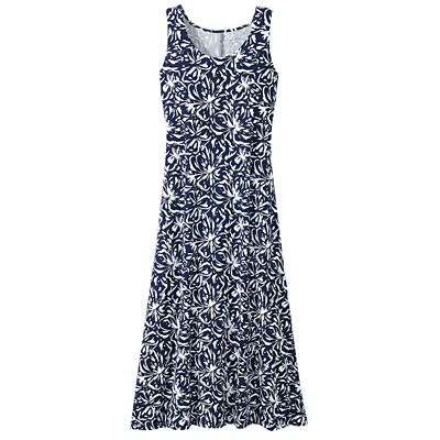 Traveler Knit Maxi Tank Dress Blossom Print