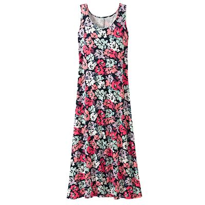 Traveler Knit Maxi Tank Dress Spring Garden Print