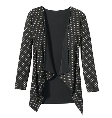 Walkabout Knit Reversible Drape-Front Jacket