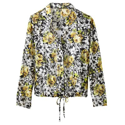 Flower Mesh Semi-Sheer Jacket