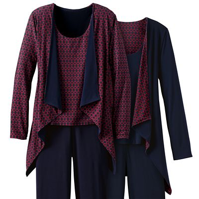 Plus Size Walkabout Knit Reversible Drape-Front Jacket