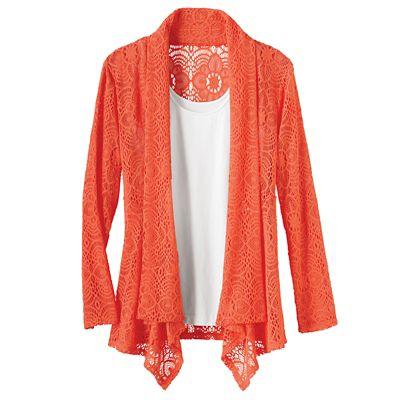 Knit Lace Drape Cardigan