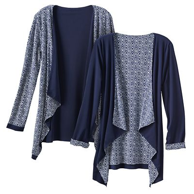 Walkabout Knit Reversible Drape-Front Jacket