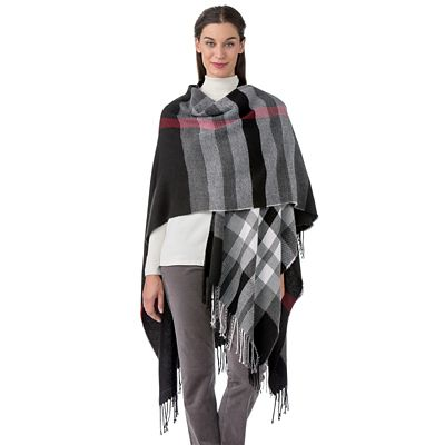 Fiona Plaid Wrap
