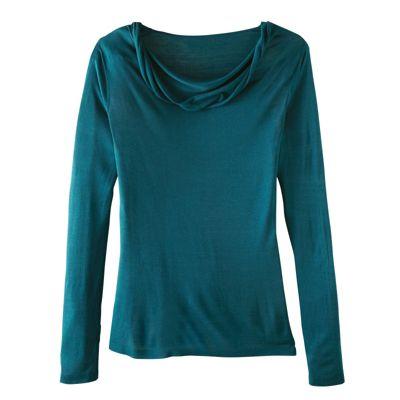 Women's Silk-Cotton Drape-Neck Sweater