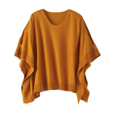 Peekaboo-Sleeved Poncho Sweater