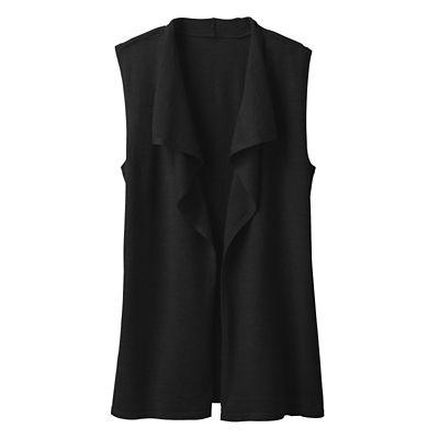 Merino Wool Open-Front Vest