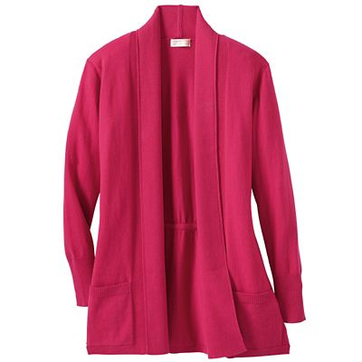 Plus Size Samantha Brown Ultrasoft Cardigan