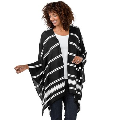 Foxcroft Striped Ruana
