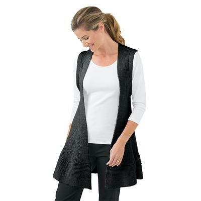 Mixed-Stitch Sweater Vest