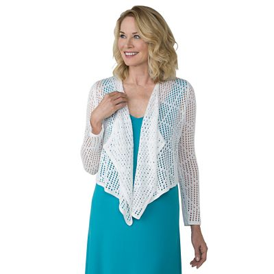 Diamond Crocheted Cardigan