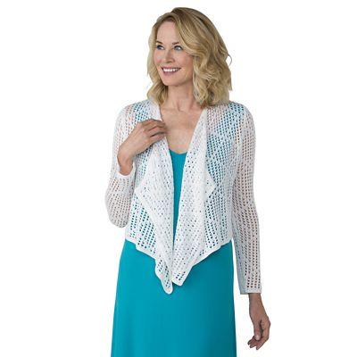 Diamond Crocheted Cardigan