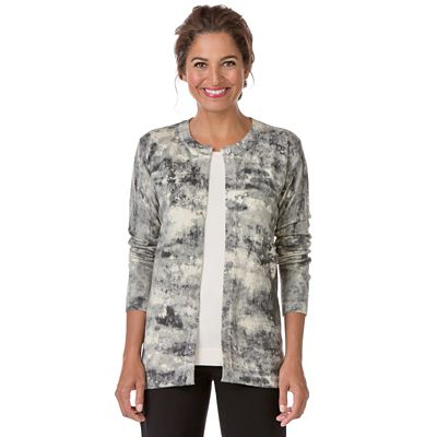 Abstract Print Cardigan