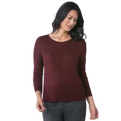 Rib-Trim Pullover Sweater