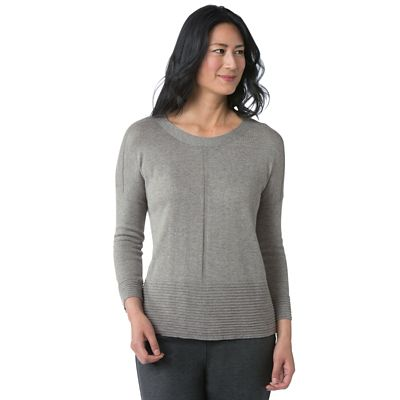 Rib-Trim Pullover Sweater