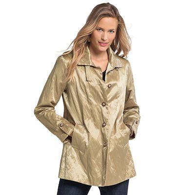 Crinkle Shimmer Raincoat