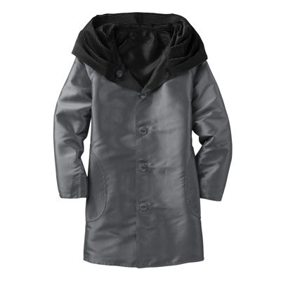 Packable Reversible Accordion-Hood Coat