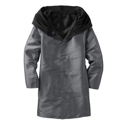Packable Reversible Accordion-Hood Coat