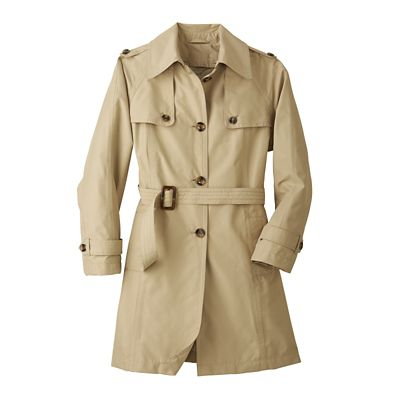 Plus Size Belted Trench