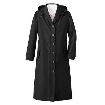 Shawl-Collar Raincoat