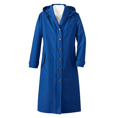 Shawl-Collar Raincoat