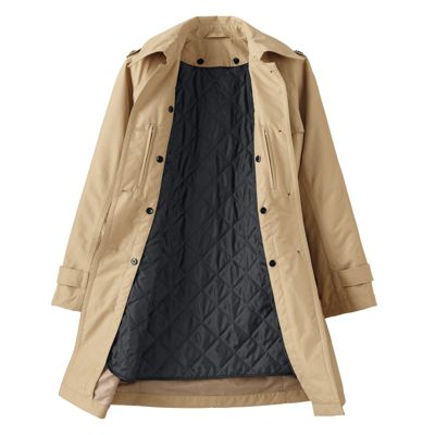Plus Size Double-Collar Raincoat Liner
