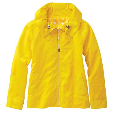 Ruched-Collar Spring Jacket