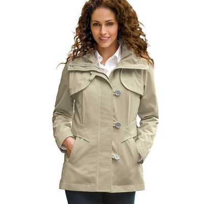 Tab-Front Hooded Rain Jacket