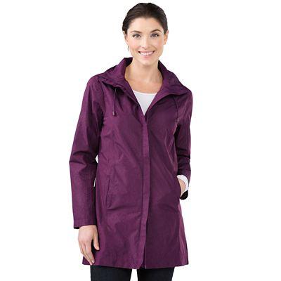 Women's RFID-Blocking Shadow Print Raincoat