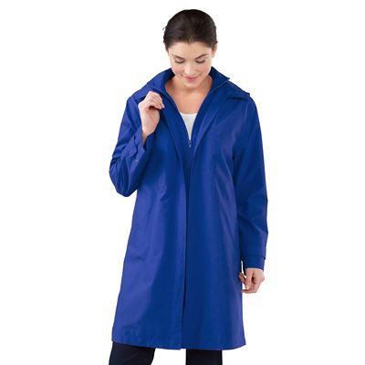 Plus Size RFID-Blocking Double-Collar Raincoat