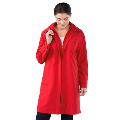 RFID-Blocking Double-Collar Raincoat