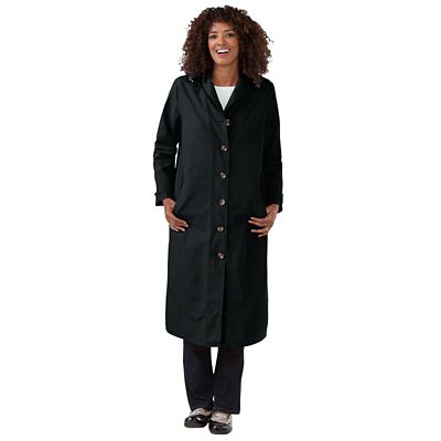 RFID-Blocking Shawl-Collar Raincoat