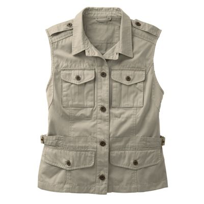 Women's Bush Poplin Safari Vest