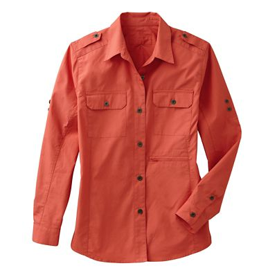 Women's Poplin Safari Shirt
