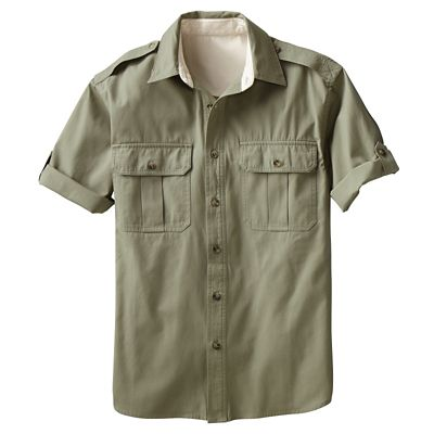 Men's Bush Poplin Destination Short-Sleeved Shirt