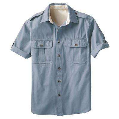 Men's Bush Poplin Destination Short-Sleeved Shirt