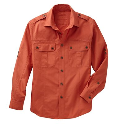 Men's Poplin Safari Shirt