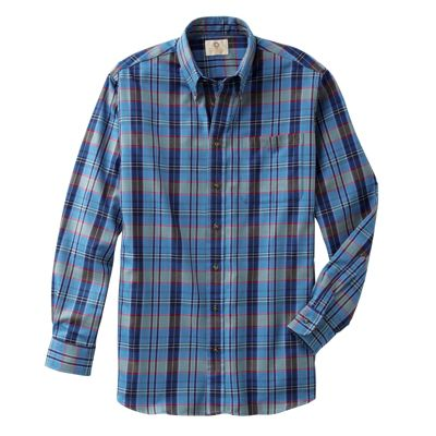 Men's Viyella Chambray Plaid Winter Shirt