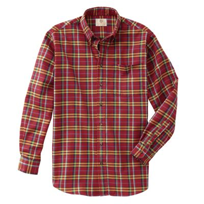 Viyella Cranberry Plaid Winter Shirt