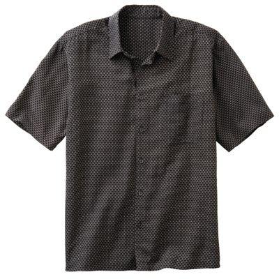 Silk-Blend Atom-Print Shirt