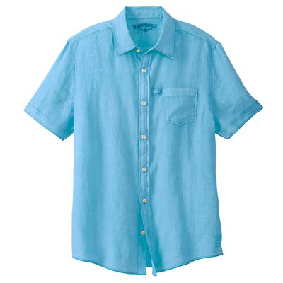 Margaritaville Washed-Linen Short-Sleeve Shirt