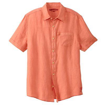 Margaritaville Washed-Linen Short-Sleeve Shirt