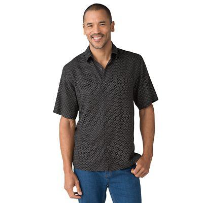 Silk-Blend Zigzag Print Shirt
