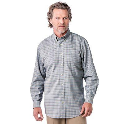 Enro Non-Iron St. Denis Dobby Plaid Shirt
