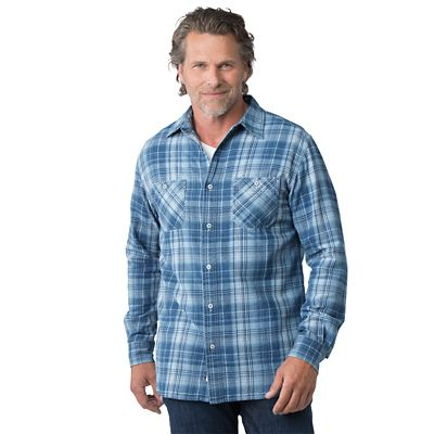 Weatherproof Indigo Plaid Shirt