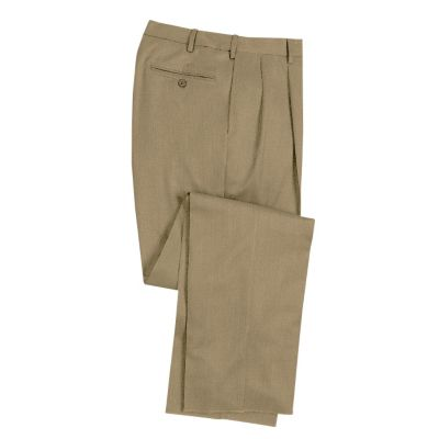 Washable Wool-Blend Pleated ComfortSizer Pants